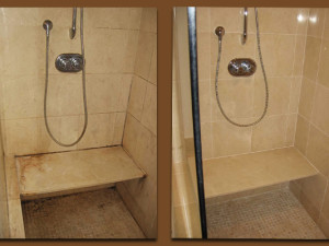 Natural Stone Shower Restoration