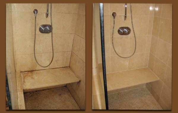 Marble Shower Restored