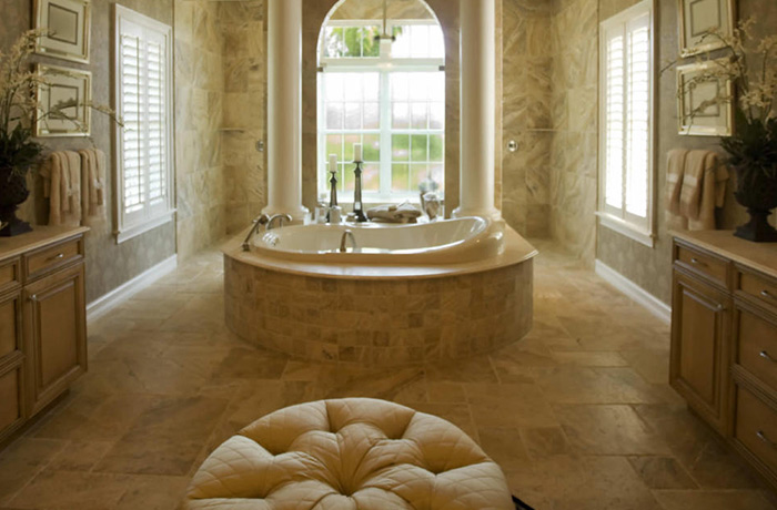 Stone and Tile Bathroom Restoration