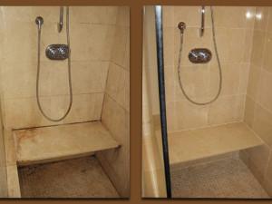 Natural Stone Shower Restoration